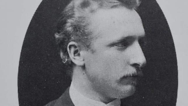 LÄRAREN. Wilhelm Theodor Söderberg (1845-1922) blev Alice Tegnérs förste lärare i pianospelet och harmoniläran, i hennes barndomsstad Karlshamn. Foto: Lasse Svensson