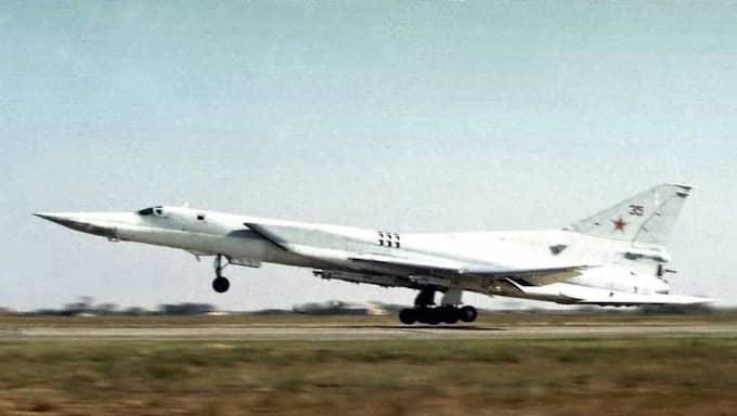 Det var flygplan av typen Tu-22M3 som deltog i attackövningen. Foto: AP