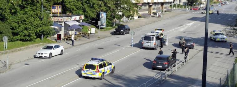 Mordplatsen den 21 augusti förra året. Foto: Lasse Svensson