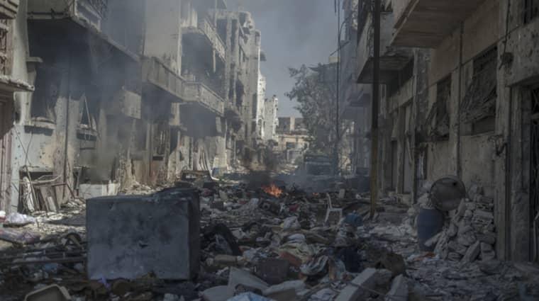 SPÖKSTAD. Innan det syriska inbördeskriget var Homs en livlig industristad. Nu är dess ruiner ett vittnesmål om krigets fasor och förödelse. Foto: Christoffer Hjalmarsson
