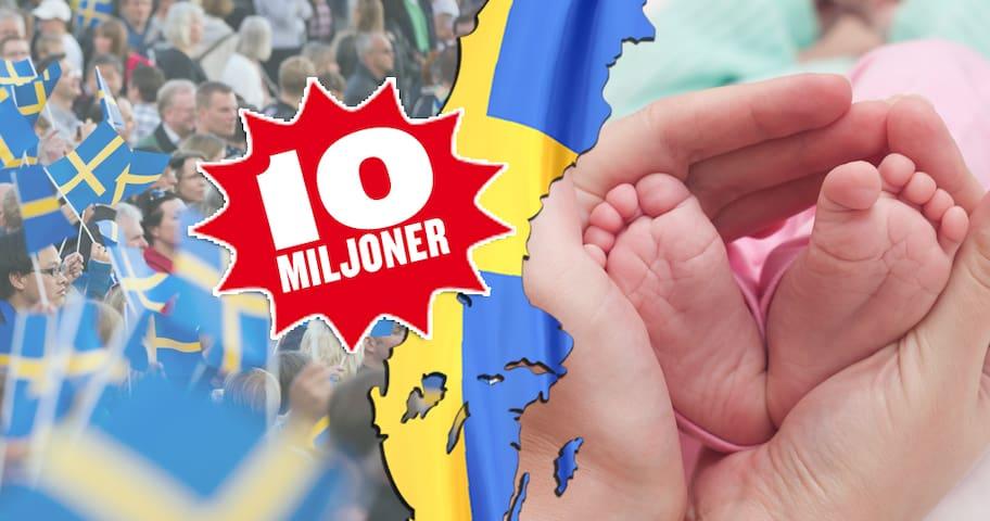 REKORD! Nu är vi tio miljoner invånare i Sverige