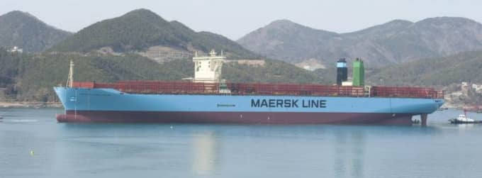 Mærsk McKinney-Møller är världens största containerfartyg. Foto: Maersk Line