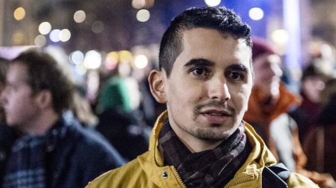 Han misstänks för misshandel av andra antirasisten och MFF-supportern Showan Shattak. Foto: Tomas Leprince