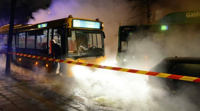 Delar av centrala Lund svämmade över på fredagskvällen. Foto: Andreas Holm