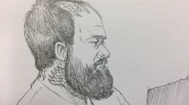 Martin Jonsson i rättssalen. Foto: Helen Rasmusen