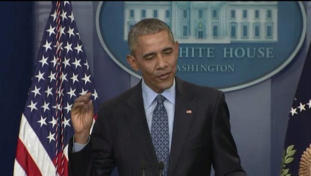 Barack Obama håller en sista presskonferens