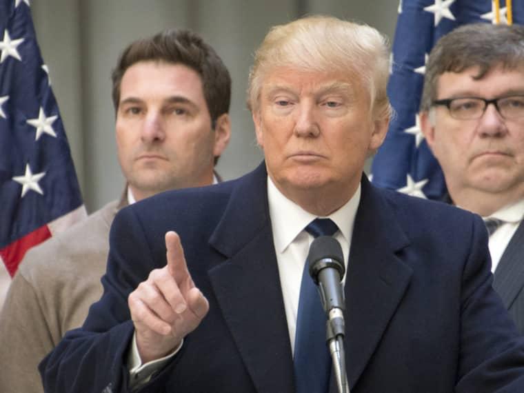 """Enligt Donald Trump, ledare i det republikanska racet, är Belgien en """"horror show"""". """"Det här hände på grund av att de har misslyckats med assimileringen."""" Foto: Ron Sachs / CNP / POLARIS POLARIS IMAGES"""