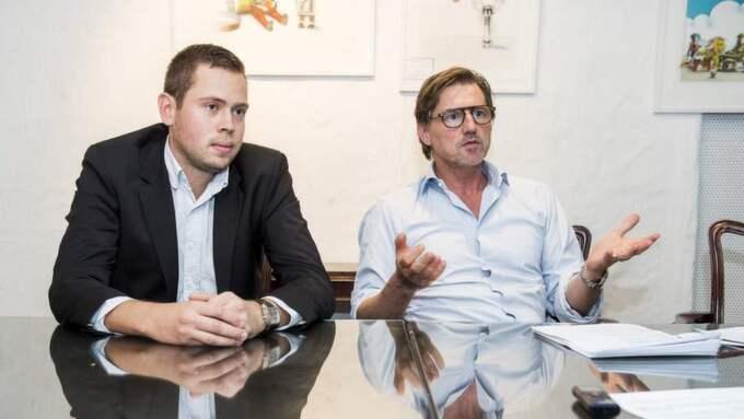 ÄGARNA. Lexbases grundare Jonas Häger och styrelseordföranden Magnus Gröndal planerar att hänga ut prickade läkare och tandläkare. Foto: Suvad Mrkonjic