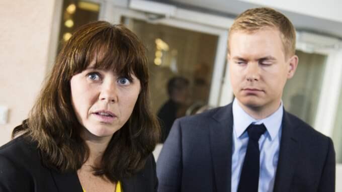 Miljöpartiets språkrör Åsa Romson och Gustav Fridolin. Foto: Anna-Karin Nilsson