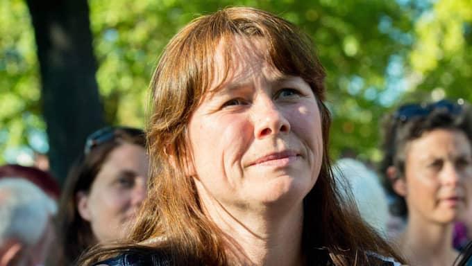 Miljöpartiets språkrör Åsa Romson sa i Almedalen att hon tror på elallergi. Foto: Julia Reinhart