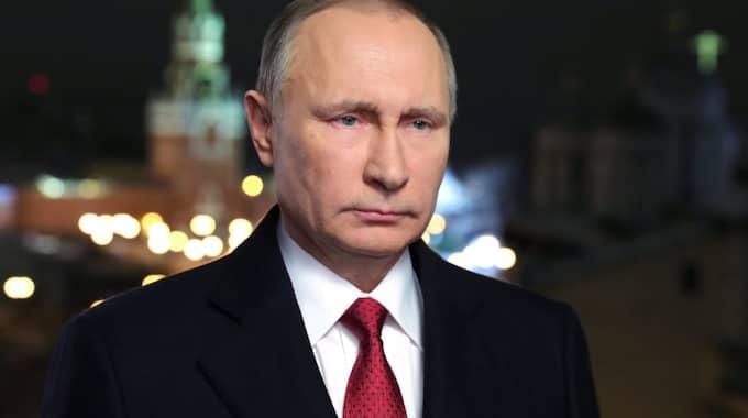 Putin sprider sin världsbild. Foto: Mikhail Klimentyev/EPA/ TT