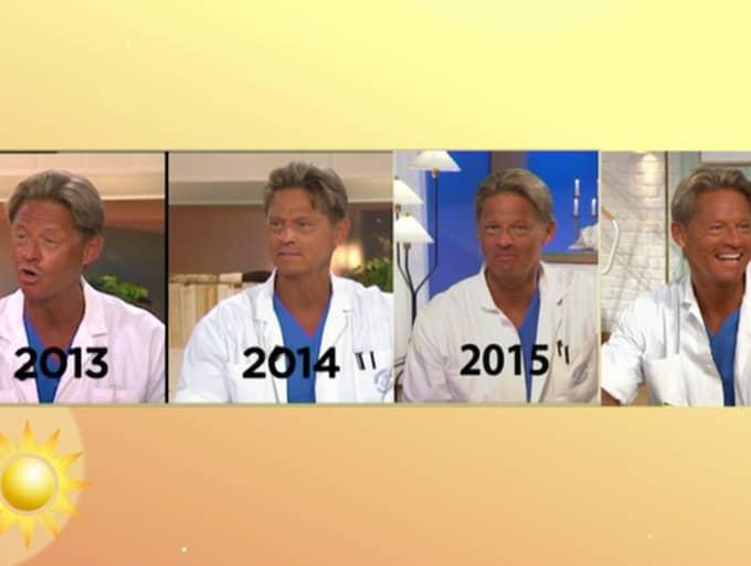 Solbrännan genom åren. Foto: TV4