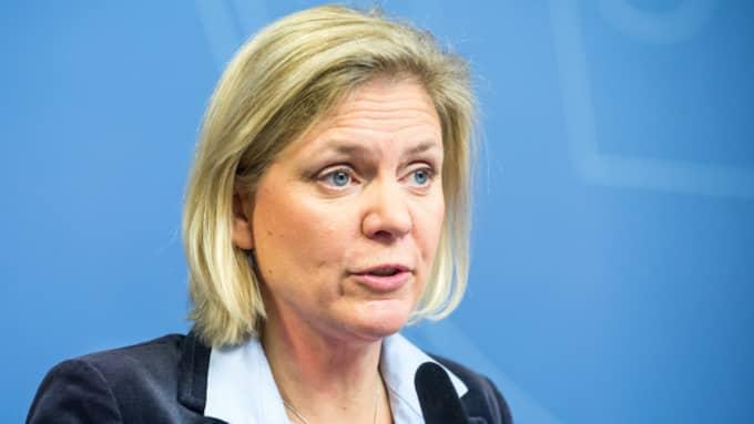 """Magdalena Andersson, finansminister om siffrorna: """"Det är en för dålig siffra. Nu är det viktigt att vi är väldigt tydliga inför väljarna."""" Foto: Pelle T Nilsson/AOP-IBL"""