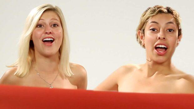 Bästisarna ser varandra nakna för första gången