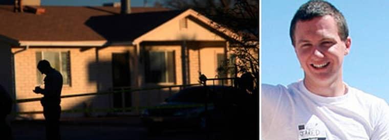 Här i Jared Loughners hem hittades ett kassaskåp där han förvarade ett kuvert med ord som visar att han planerade blodbadet i Tucson. Foto: AP och Reuters
