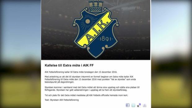 Samtliga i AIK:s styrelse lämnar