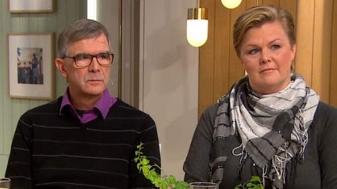 """""""Jag är så rädd att varje gång det kommer en film att jag ska få se något som fastnar på min näthinna"""", sa Johans syster Victoria Gustafsson i Nyhetsmorgon. Foto: TV4"""
