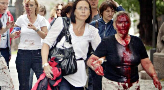 Bilder på Sissel Wilsgård, 62, spreds över hela världen efter bombattentatet den 22 juli. Foto: Grønning, Torbjørn