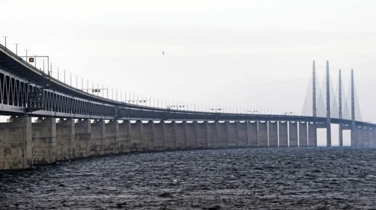 Öresundsbron stängdes av efter olycka. Bilden är från ett annat tillfälle. Foto: Ludvig Thunman