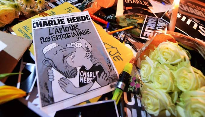 Skulle inte ske här. I Sverige skulle Charlie Hebdo aldrig haft en chans. Satir om våldsbejakande imamer skulle stämplas som islamofobi, skriver Fredrik Malm, som riksdagsledamot för Folkpartiet. Foto: Andy Rain/ Epa/TT