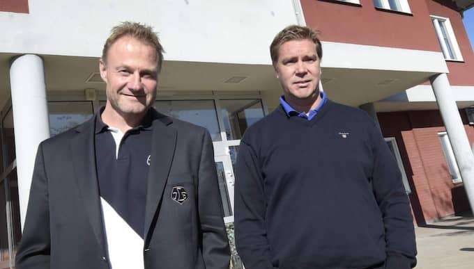 Kjell Kruse, avgående vd, tillsammans med förre sportchefen Tommy Salo. Foto: Ulf Palm