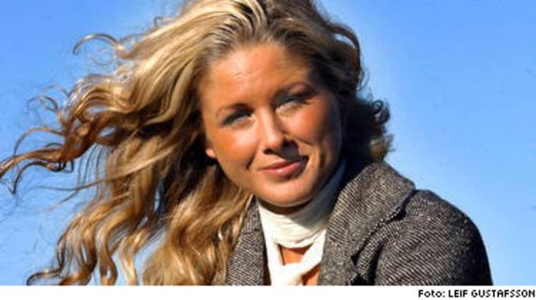 Marie Ljung, 23, har väckts av att okända personer bankant på hennes dörr. - 760