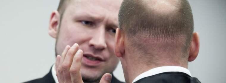 Anders Behring Breivik under rättegången. Foto: Heiko Junge
