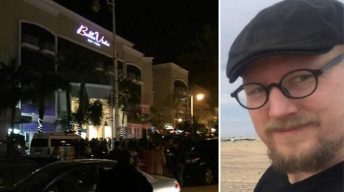 """""""Jag tänkte att jag behövde ta reda på vilket hotell det var eftersom jag förstod att det var svenskar som hade råkat illa ut. Då ringde jag till vår hotellreception. Jag tänkte att om de inte visste någonting borde det vara ganska okej"""", berättar Carl Heath, som är på plats i Hurghada. Foto: Privat/Läsarbild"""