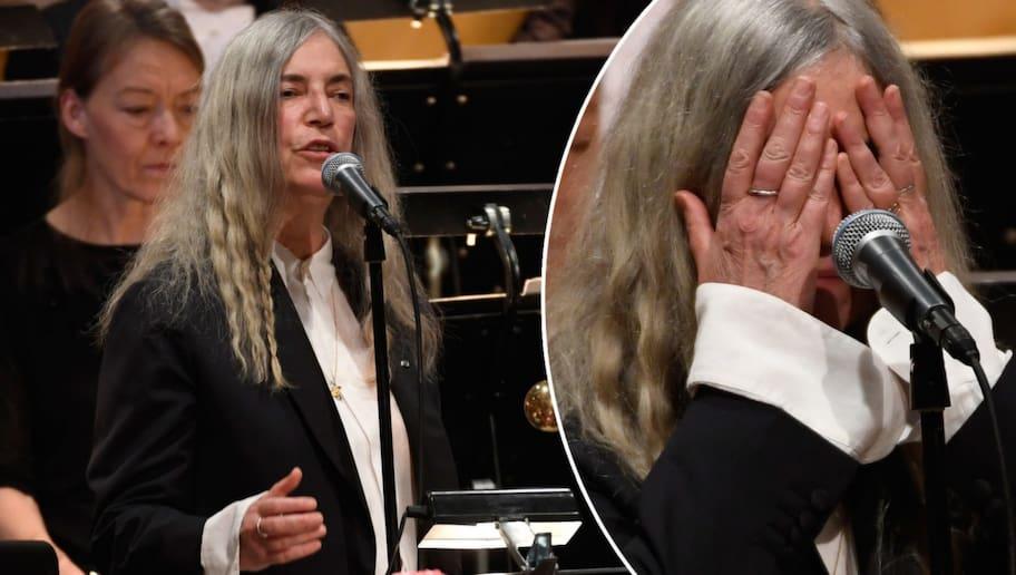 Patti Smith kom av sig under hyllningen till Bob Dylan