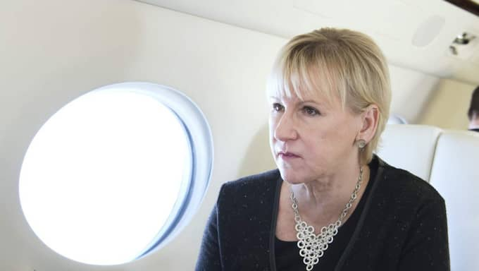 """I ett uttalande kallar utrikesminister Margot Wallström, S, händelserna för """"djupt oroande"""". Foto: Sven Lindwall"""