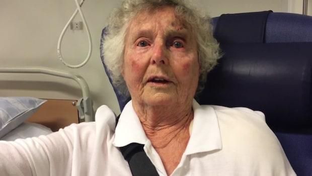 Här är 86-åriga Gudruns budskap till rånarna