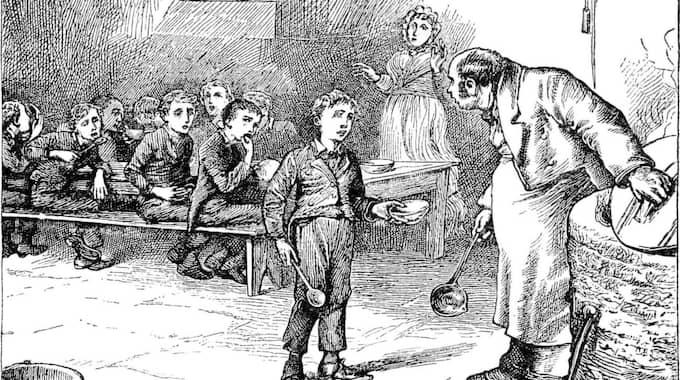 """DICKENSIANSKA VILLKOR? Frilansarvodena har inte höjts på 30 år, skriver Jan Gradvall. Illustration ur """"Oliver Twist""""."""