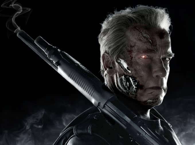 Arnold Schwarzenegger som mördarrobot i filmen Terminator 2 Foto: Paramount/Grosby Group