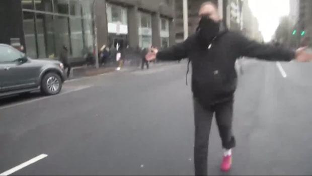 Våldsamma protester på Washingtons gator