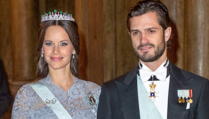 Prinsessan Sofia och prins Carl Philip vid Nobelfesten. Foto: Pelle T Nilsson