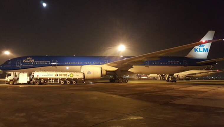 Det var ett plan från KLM som mannen ska ha försökt bryta sig ur. Foto: Chopin Airport