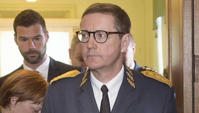 Generalmajor Gunnar Karlsson, chef för Must, har anmält officeren till Försvarsmaktens personalansvarsnämnd. Officeren får inte längre vara på sin arbetsplats. Foto: Tommy Pedersen