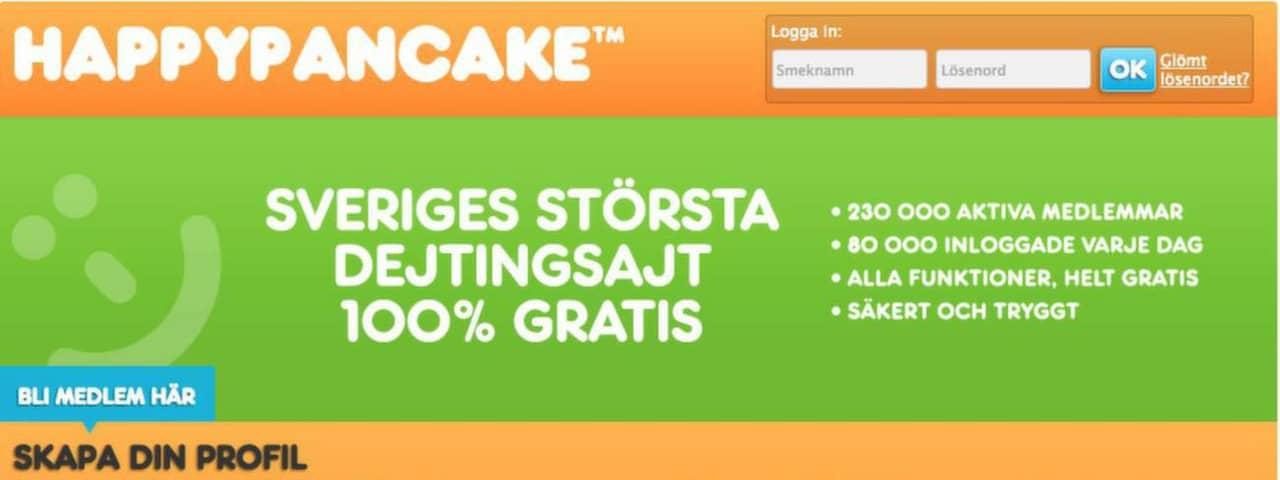 dejtingsidor happypancake Östersund
