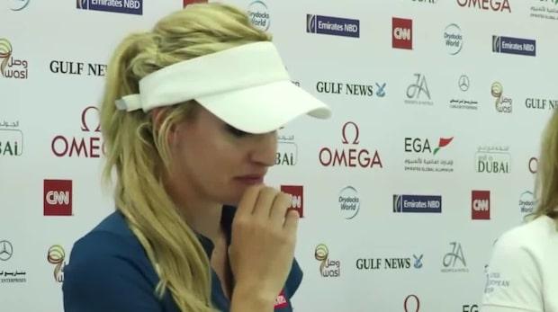 Golfstjärnan i tårar efter frågan om näthat