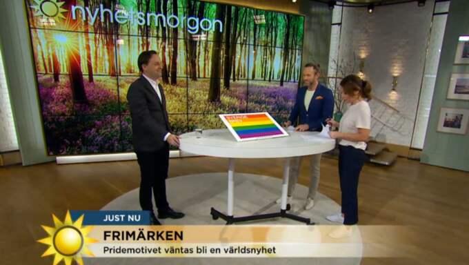 Att Pridesymbolen blir frimärke avslöjades i TV4.