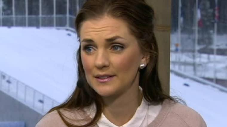 """Johanna Ojala blev """"chockad"""" av Mattias Perssons citat om Charlotte Kalla. Foto: SVT."""