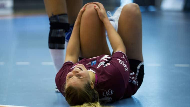 Ebba Engdahl skadade knät 2013. Foto: Petter Arvidson