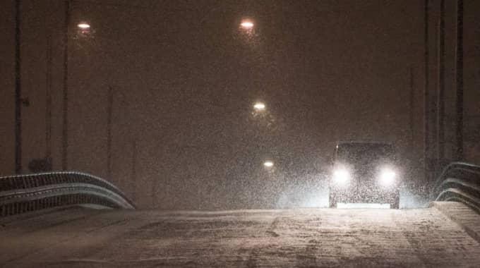Det har varit blixthalka i södra Sverige på tisdagen. Norrut har läget varit bättre. Foto: Pelle T Nilsson