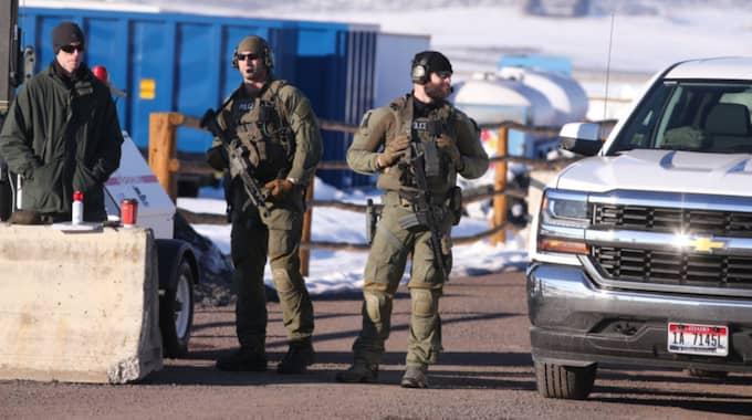 Den 27:e januari gick polisen in och avbröt ockupationen. Foto: Beth Nakamura