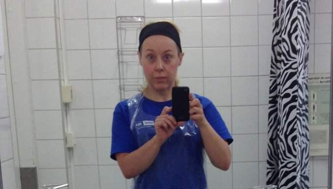 Expressens Anna Bäsén tog jobb som städare på Södersjukhuset i Stockholm. Det som mötte henne var skrämmande. Foto: Anna Bäsén