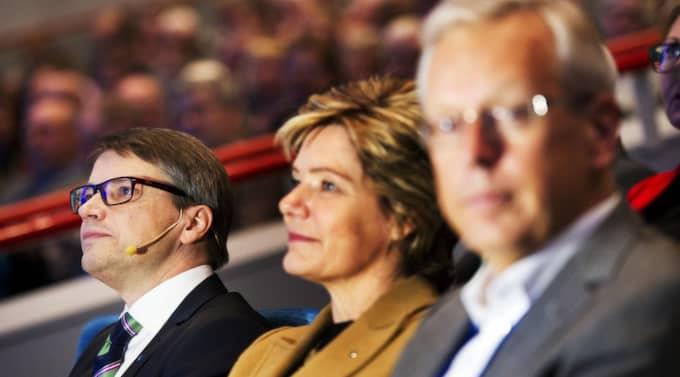 Göran Hägglund (tv) eller Mats Odell (th)? Det ska avgöras på lördagen. I mitten Maria Larsson. Foto: Olle Sporrong