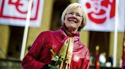 LO-ordföranden Wanja Lundby Wedin lovar att ta kampen mot Sverigedemokraterna i valrörelsen. Foto: Adam Ihse / Scanpix