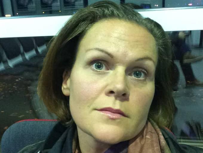 En av alla drabbade är Gunilla Sunnros, som befinner sig i Vasa, Finland. Foto: Privat