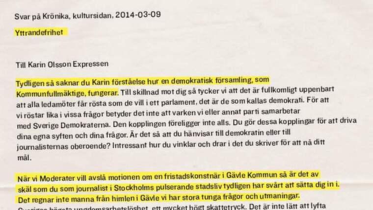 Här är en bit av brevet – läs hela till höger om artikeln.