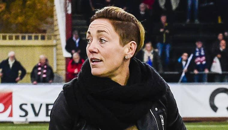 """Rosengårds Therese Sjögran är en av få kvinnor i en styrande position inom damfotbollen. """"Jag hoppas fler klubbar vågar satsa"""", säger hon. Foto: Ludvig Thunman"""